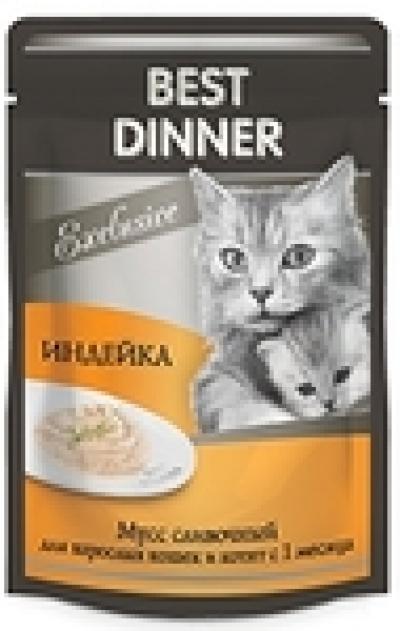 Best Dinner Пауч Корм для кошек и котят суфле Индейка 85 гр