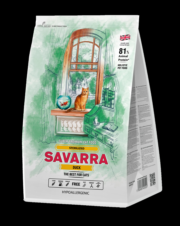 Savarra (САВАРРА) Корм для стерилизованных кошек Утка\Рис 400 гр