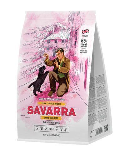 Savarra (САВАРРА) КОРМ ДЛЯ ЩЕНКОВ КРУПНЫХ ПОРОД ЯГНЕНОК/РИС 12КГ