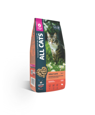 All Cats (ОЛ КЭТС) Корм для кошек ГОВЯДИНА И ОВОЩИ 2,4 кг