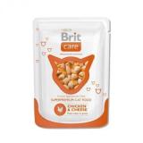 Brit Care Пауч корм для кошек Курица сыр 80 гр