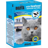 Bozita Tetra Pac mini Корм для кошек соус Морской коктейль 190 гр
