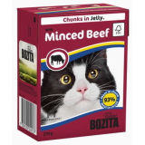 Bozita Tetra Pac Feline Корм для кошек кусочки в желе Говядина рубленная 370 гр
