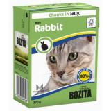 Bozita Tetra Pac Feline Корм для кошек кусочки в желе Кролик 370 гр