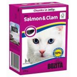 Bozita Tetra Pac Feline Корм для кошек кусочки в желе Лосось Мидии 370 гр
