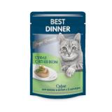 Best Dinner Пауч Корм для кошек и котят суфле Ягненок 85 гр