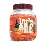 Little One Сушенная морковь лакомство для грызунов 150 гр