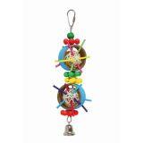 Fauna Игрушка для птиц Кольца с плетенными мячами 40,6см
