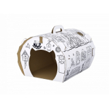 Картонный домик для кошек Ms.Kiss 39*43*32см