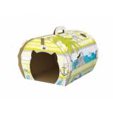 Картонный домик Морская прогулка для кошек 38*58*46см
