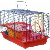 Клетка для грызунов Н420 2-этажная пластиковый поддон 38*26*26