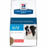 Hill's Prescription Diet D/D лосось и рис, лечение пищевых аллергий и непереносимости 12 кг