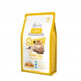 Brit Care Sunny Корм для длинношерстных кошек Лосось Рис 400 гр