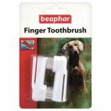 Beaphar Зубная щетка двойная на палец для собак