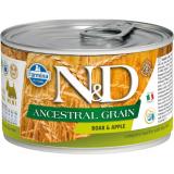 Farmina N&D Dog ANCESTRAL GRAIN Корм для взрослых собак мелких пород, Кабан с яблоком, 140 гр