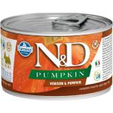 Farmina N&D Dog PUMPKIN корм для взрослых собак мелких пород, Оленина с тыквой, 140 гр