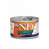 Farmina N&D Dog PUMPKIN корм для взрослых собак мелких пород, Тыква, ягненок и черника, 140 гр