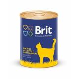 Brit Premium Консервы для кошек Мясное ассорти с потрошками 340 гр