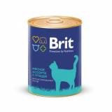 Brit Premium Консервы для кастрированных кошек Мясное ассорти с птицей 340 гр