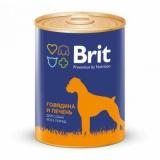 Brit Premium Консервы для собак Говядина Печень 850 гр