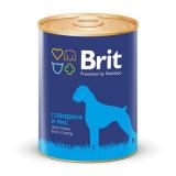Brit Premium Консервы для собак Говядина Рис 850 гр