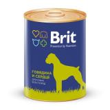 Brit Premium Консервы для собак Говядина Сердце 850 гр