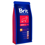 Brit Premium Adult L Корм для собак крупных пород Курица 15 кг