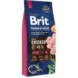 Brit Premium Nature Junior L Корм для щенков крупных пород Курица 15 кг