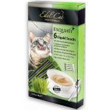 Edel Cat Крем-суп лакомство для кошек Ливерная колбаса Луговые травы 6 шт