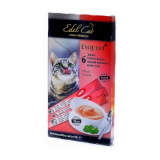 Edel Cat Крем-суп лакомство для кошек Лосось 6 шт