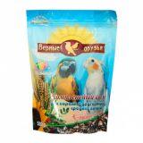 Верные Друзья, корм для средних попугаев в период линьки, 500 гр