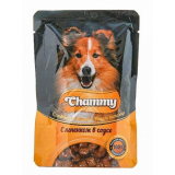 Chammy Пауч корм для собак в соусе Ягненок 85 гр