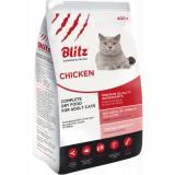 Blitz Ault Cats Chicken корм для взросл кошек, с курицей 400 г
