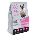 Blitz Ault Cats Turkey корм для взросл кошек, с индейкой 400 г
