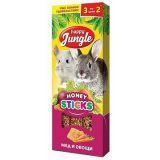 Happy Jungle Палочки для крупных грызунов мед+овощи 3 шт