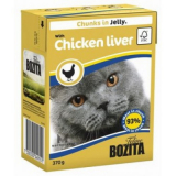 Bozita Tetra Pac Feline Корм для кошек кусочки в желе Печень курицы 370 гр