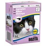 Bozita Tetra Pac Feline Корм для кошек кусочки в соусе Креветки 370 гр