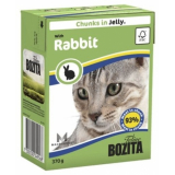 Bozita Tetra Pac Feline Корм для кошек кусочки в соусе Кролик 370 гр