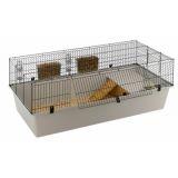 Клетка для кроликов R128 большой поддон с полочкой для сена 71*46*42