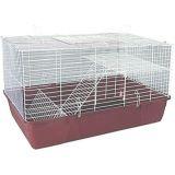 Клетка для кроликов R028 большой поддон без полочки для сена 71*46*42