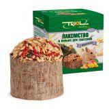 Triol Лакомство в пеньке с фруктами для мелких грызунов 70 гр