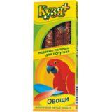 Кузя + Палочки для попугаев Овощи 4 шт