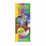 Кузя + Палочки для попугаев Яблоко 4 шт